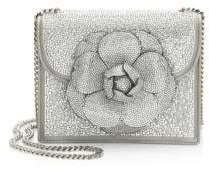 Oscar de la Renta Crystal Flower Box Bag