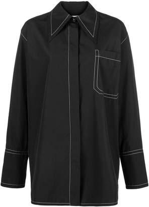 Marni stitch-detail long sleeve shirt