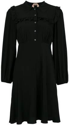 No.21 ruffle-trim shirt dress