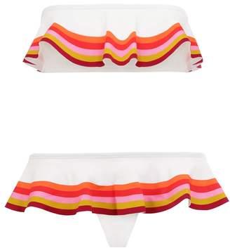 Zimmermann Goldie Bandeau Frill Bikini