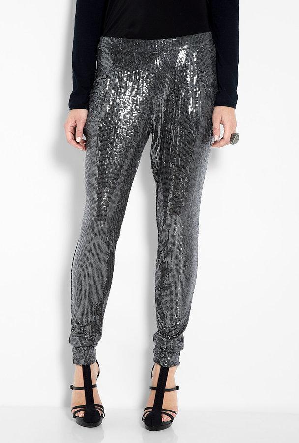 MICHAEL Michael Kors Sequin Deep Pocket Pleat Front Pant
