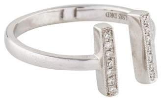 Sylvie Dana Rebecca Designs 14K Diamond Rose Double Bar Ring