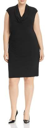 Adrianna Papell Plus Cowl-Neck Ruched Dress