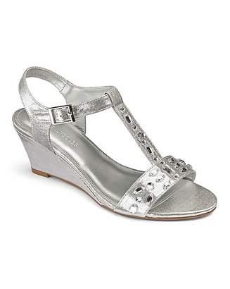 c6ea76dda63c Heavenly Soles Jewel Wedge Sandals E Fit
