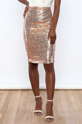 Alythea Sequin Pencil Skirt $48 thestylecure.com