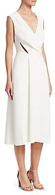 Roberto Cavalli Women's Cap Sleeve V-Neck Midi Dress