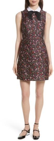 Women's Kate Spade New York Detachable Collar Floral Jacquard Dress