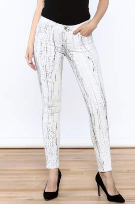 Cult of Individuality White Crackle Pants