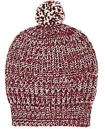 Barneys New York Women's Chunky Rib-Knit Wool-Blend Beanie - Wine