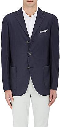 Boglioli Men's Wool Hopsack Three-Button Sportcoat - Navy