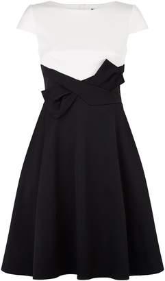 Paule Ka Cap Sleeve Bow Dress