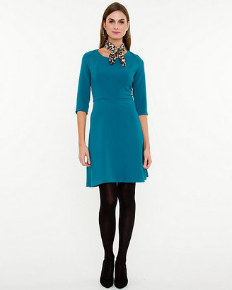 Le Château Fit & Flare Dress with Scarf