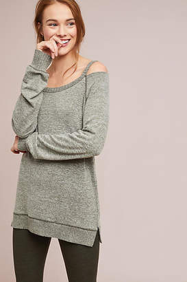 Anama Cutout Brushed Fleece Pullover