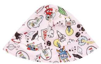 Fendi Girls' Space Printed Hat w/ Tags