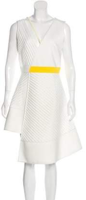 David Koma Sleeveless Textured Dress