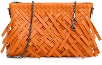 Bottega Veneta Woven Mini Bag With Chain