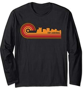 Retro Style Fort Lauderdale FL Skyline Long Sleeve T-Shirt