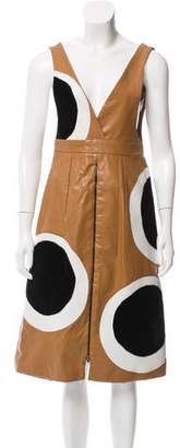 Maki Oh Pinafore Leather Dress