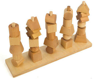 story. NEW Wooden Natural Stacking Toy