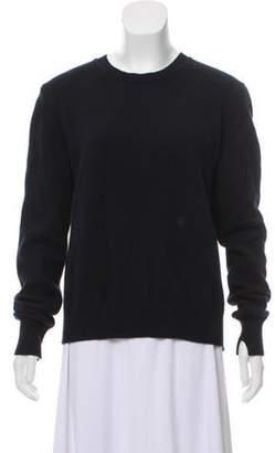 Celine Wool Open Back Sweater Navy Wool Open Back Sweater