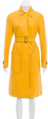 Bottega Veneta Long Leather Coat w/ Tags