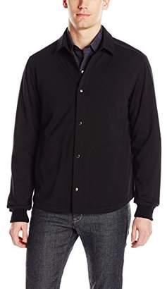 Bugatchi Men's Long Sleeve Knit Shirt Jacket