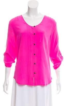 Yumi Kim Silk Button-Up Top