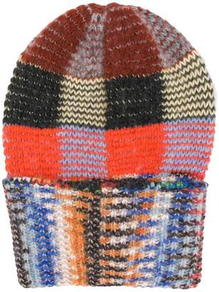 Missoni contrast knitted beanie