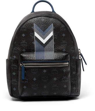 MCM Stark Backpack In Chevron Stripe Visetos