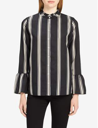 Calvin Klein striped bell sleeve blouse