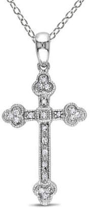 CONCERTO .10 CT Diamond and Sterling Silver Religious Necklace