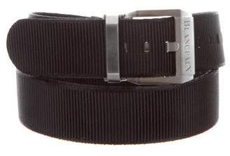 Blancpain Silver-Tone Buckle Canvas Belt w/ Tags