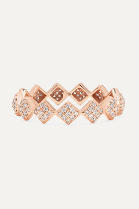 Ofira - Tattoo 18-karat Rose Gold Diamond Ring