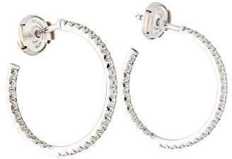 Tiffany & Co. 18K Diamond Inside-Out Hoop Earrings