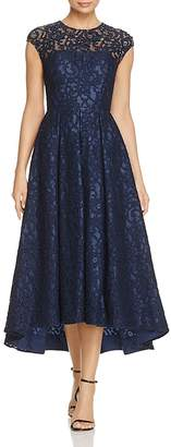 Carmen Marc Valvo Infusion Embellished Lace High Low Dress $378 thestylecure.com