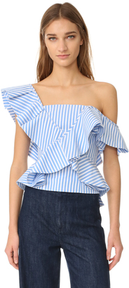 Petersyn Eliza One Shoulder Top $268 thestylecure.com