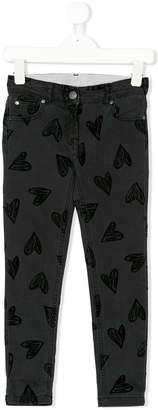 Stella McCartney heart print jeans