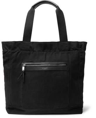 Saint Laurent City Leather-Trimmed Canvas Tote Bag