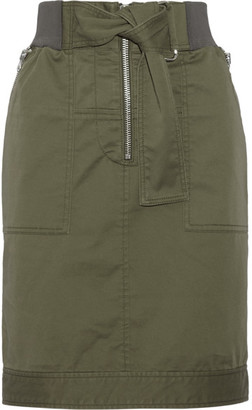 3.1 Phillip Lim - Cotton-blend Twill Skirt - Army green $395 thestylecure.com