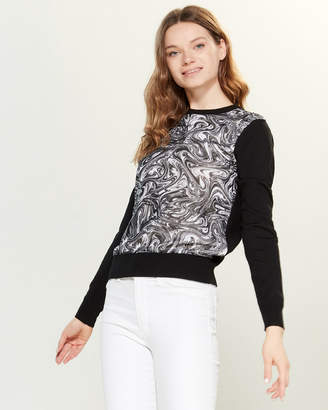 YAL New York Swirl Front Long Sleeve Sweater