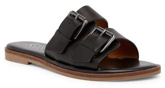 Franco Sarto Karina Leather Buckle Slide Sandal