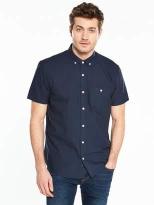 Short Sleeve Oxford Shirt - Navy