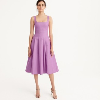 Petite pleated A-line dress in faille $168 thestylecure.com