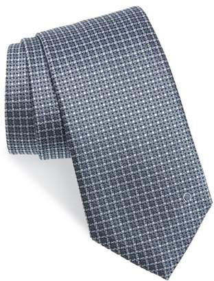 Salvatore Ferragamo Grid Silk Tie