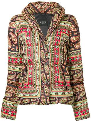 Etro paisley print puffer jacket