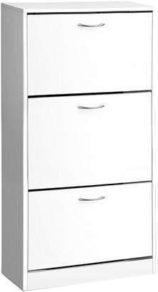 At Zanui Resort Living Shoe Storage Donnybrook Triple Shoe Cabinet, White
