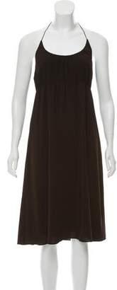 Theory Knee-Length Halter Dress