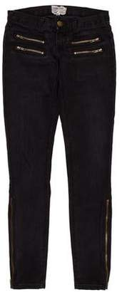 Current/Elliott The Multi Zip Skinny Mid-Rise Jeans