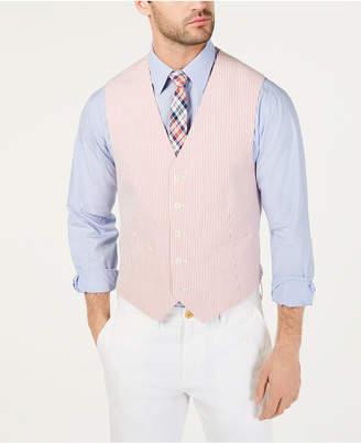Tommy Hilfiger Men THFlex Modern-Fit Seersucker Stripe Vest