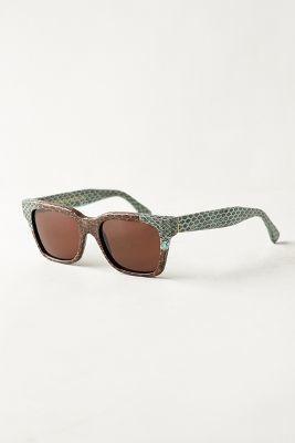 Super Snakeskin Sunglasses Brown One Size Eyewear